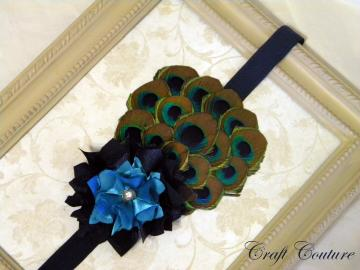 Peacock Diva- feather headband