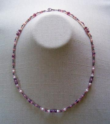 White Cran/Grape Necklace