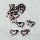 Copper Heart Clasps- jewelry findings