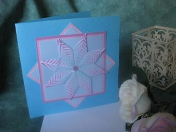 Pink & Blue Teabag Square Card