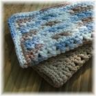 Blue and Brown Spa Cloth Set