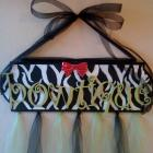 Personalized Bow Holder, or Wall Decor,  Choose your colors