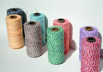 Twine 5 yards each colors from the crayon box 8 colors