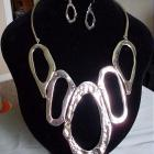 Inspired by Salvador Dali Big Bold Bib style choker, necklace and earring set by shoptillyoudropnow