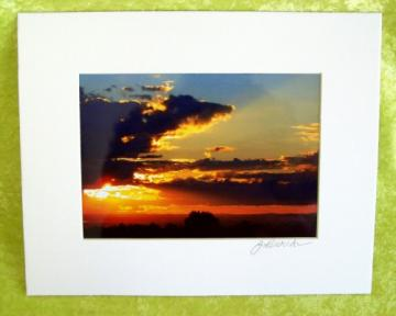 SPLENDOR Photoprint, 5x7 print matted to  8x10 inches overall