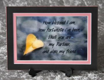 5x7 matted print - Heart Leaf - Partner