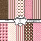 Neapolitan   Digital Printable Paper for Cards, Crafts, Art and Scrapbooking Set of 10