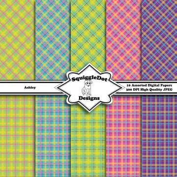 Ashley   Digital Printable Paper for Cards, Crafts, Art and Scrapbooking Set of 10