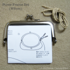 Purse Frame 8 cm - Silver / Set Instruction