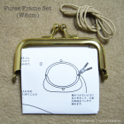 Purse Frame 8 cm - Gold / Set Instruction