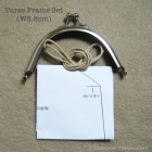 Purse Frame 8.8 cm - Silver / Set Instruction