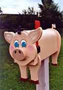 Pig mailbox