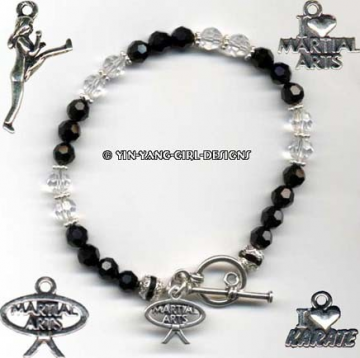 Karate/Martial Arts Black Belt Bracelet