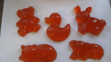Kids Glycerin Animal Shaped Soaps - Vegan - Set of 5 - Also Great for Party Favors
