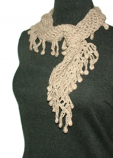 100% Organic Cotton Crochet scarf