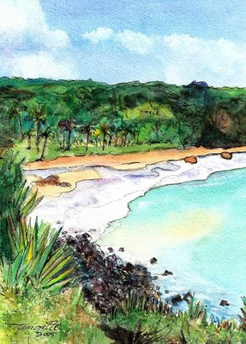 Lawai Kai  Beach by Marionette from Kauai Hawaii