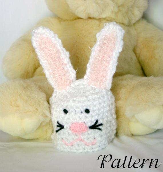Crochet Pattern For Newborn Bunny Hat : Click to Enlarge Image