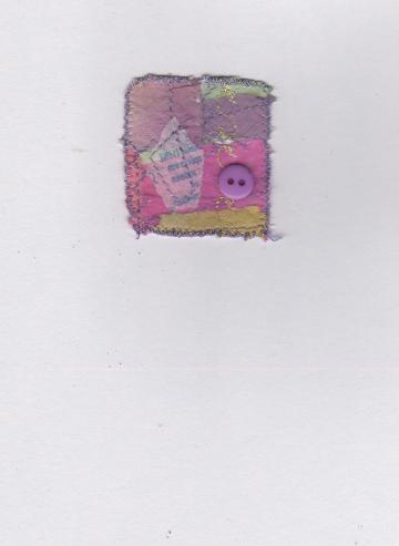 OOAK Collage, Greetings Card, Mini Artwork, Candy Colors
