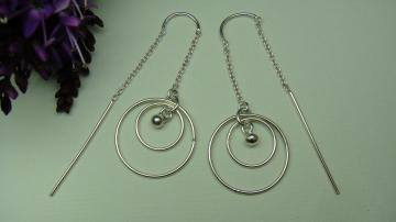 LIFEO-Sterling Silver-Swing-Earrings