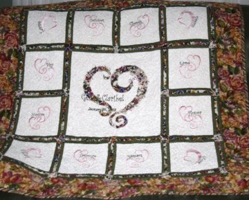 Custom Made Wedded Bliss Wedding/Anniversary Quilt