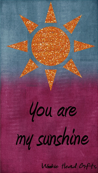 ACEO ATC My sunshine orange love