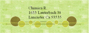 Set of 30 Address Labels (Green Circles)