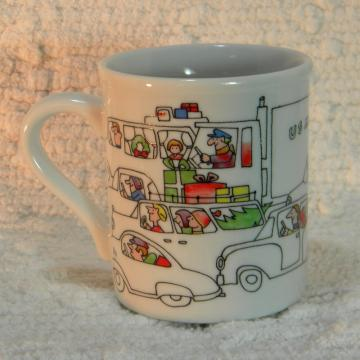 Traffic During The Holiday Season Coffee Cup