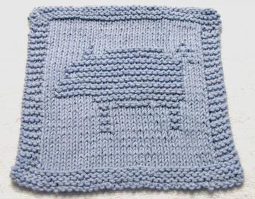 Knitting Cloth Pattern - PIG - PDF