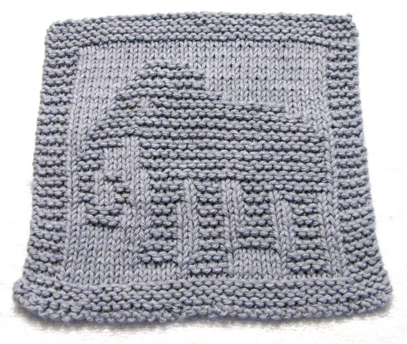 Easy Elephant Knitting Pattern : Click to Enlarge Image