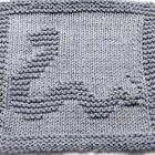 Knitting Cloth Pattern - Happy Snake  - PDF