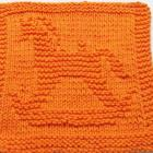 Knitting Cloth Pattern  - Rocking Horse  - PDF