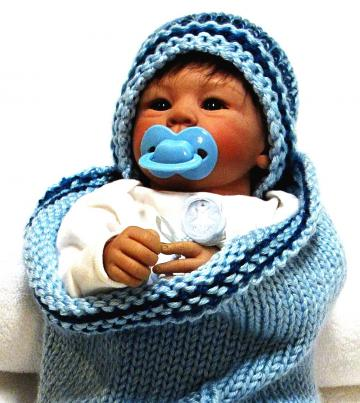 Knitting Pattern,  Cocoon with SAILBOAT DESIGN  and Beanie  - Free Pod Pattern with Purchase
