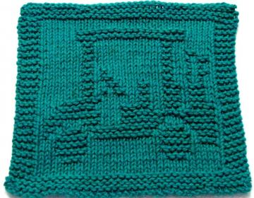 Knitting Cloth Pattern - GOLF CART - PDF