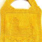 Bib Knitting Pattern - RUBBER DUCK - PDF