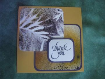 Leaf Splatter Thank You Card