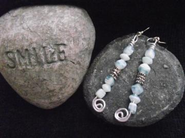 PIF~ Blue Ice Earrings
