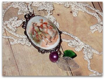 Stroll Through the Forest Necklace - Fayrie Lights Collection - OOAK