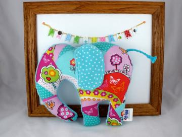 Minky and Cotton Plush Elephant