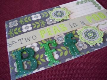 "Handmade Birthday Card ""Two Peas"""