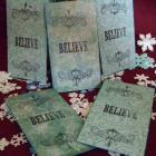 Believe  Handmade Christmas Gift Tags and Holders