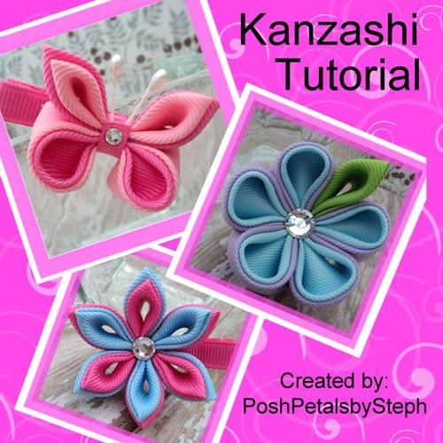 Kanzashi Flower And Butterfly Boutique Hair Clip PDF Tutorial
