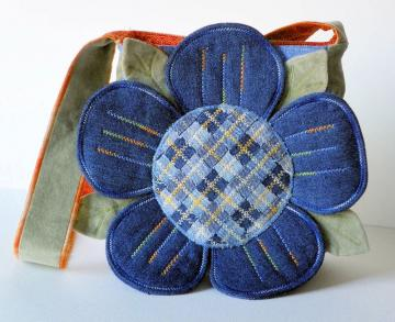 Petal Perfect Reclaimed Denim Purse