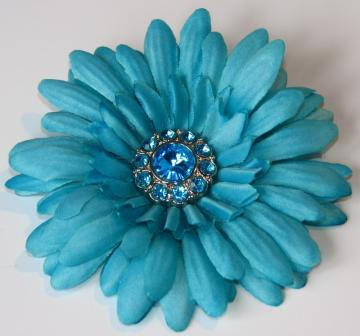 Jeweled Hair Flower