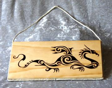 Spiral Tribal Dragon plaque