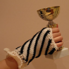 Black,Black,cream(ivory)spiral gloves for precious