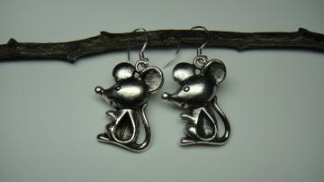 LIFEO-Silver-Cute Mouse-Earrings