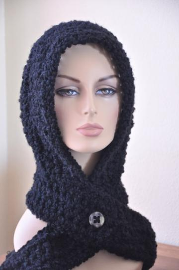 Crochet Cowl Hood | FaveCrafts.com - Chris