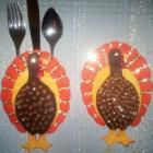 Thanksgiving Turkey Flatware Holders (2)