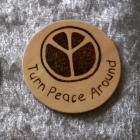 Round Peace sign magnet - TPA