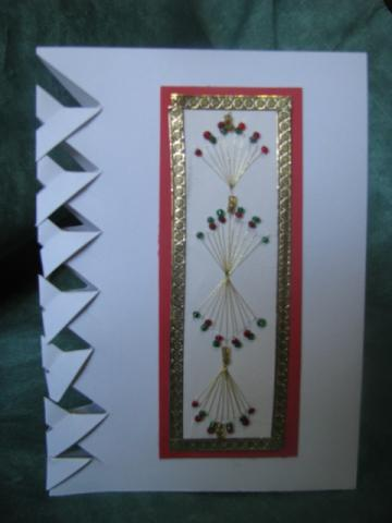 Beaded Spray Card